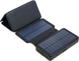 PowerNeed Panel solarny 9W z power bankiem 20000mAh (74Wh), wyjście: USB 2x 5V, 2A