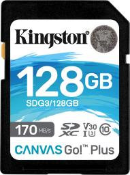 Karta Kingston SDXC Canvas Go! Plus 128GB (SDG3/128GB)