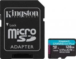 Karta Kingston Canvas Go Plus MicroSDXC 128 GB Class 10 UHS-I/U3 A2 V30 (SDCG3/128GB)