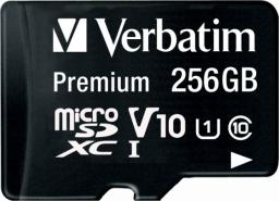 Karta Verbatim Premium MicroSDXC 256 GB Class 10 UHS-I/U1 V10 (44087)
