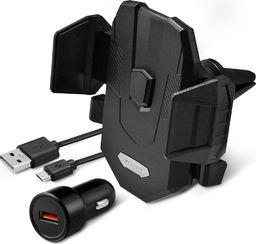 Uchwyt Spigen Uchwyt z ładowarką bezprzewodową Spigen X35W Air Vent Mount Wireless Charger Black