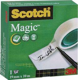 Staples SCOTCH Taśma klejąca MAGIC matowa w pudełku 810, 19mmx10m