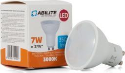 Abilite Żarówka LED, SMDS-3030, GU10, 7W, Szybka, 10LED, B. ciepły, 480lm, kąt św. 120°, 230V, (spotlight) (5901583544927)