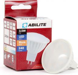 Abilite Żarówka LED, SMDS-2835, GU5.3, 3.5W, Szybka, 15LED, B. ciepły, MR16 4W/12V 300LM 120° (spotlight) (5901583545030)