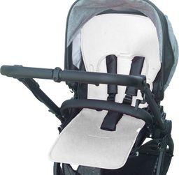 Kuli-Muli Uniwersalna wkładka antypotowa do wózka spacerowego - Lyocell - biała