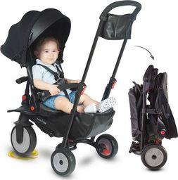 Wózek Smart Trike Składany rowerek dziecięcy/wózek 8w1 czarny (STR7)