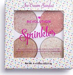 Makeup Revolution I Heart Revolution Blush & Sprinkles Paletka różów i rozświetlaczy Ice Cream Sundae 1szt