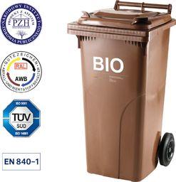 Europlast Pojemnik kubeł na BIO odpady i śmieci spożywcze ATESTY Europlast Austria - brązowy 120L