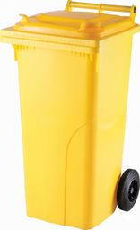 Europlast Pojemnik kubeł na odpady i śmieci ATESTY Europlast Austria - żółty 120L