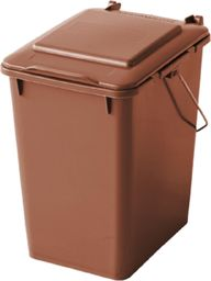 Kosz na śmieci Europlast do segregacji 10L brązowy (0017-5)