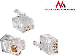 Maclean Wtyk RJ11 100szt  (6P4C MCTV-665)