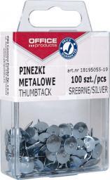 Office Products PINEZKI SREBRNE OFFICE PRODUCTS 100 SZT.