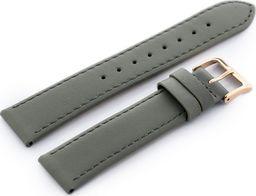 Gino Rossi Pasek GINO ROSSI skórzany do zegarka - szary - 20mm uniwersalny