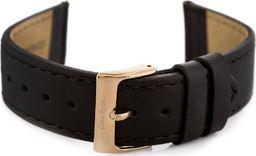 Gino Rossi Pasek GINO ROSSI skórzany do zegarka - brązowy/rosegold - 20mm uniwersalny
