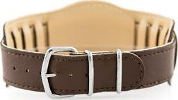 Pasek z ekoskóry do zegarka - podkładka - brązowy/brązowe - 18mm uniwersalny