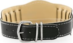 Pasek z ekoskóry do zegarka - podkładka - czarny/białe - 18mm uniwersalny