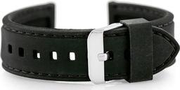 Pasek gumowy do zegarka - przeszywany czarny 24mm uniwersalny