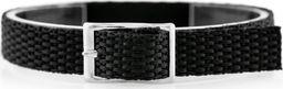 Pasek parciany do zegarka - czarny - 12mm uniwersalny