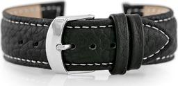 Pacific Pasek skórzany do zegarka W71 - czarny/biały - 18mm uniwersalny