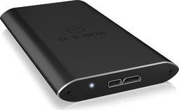 Kieszeń Icy Box ICYBOX IB-182aMU3 IcyBox Obudowa Zewnętrzna na dysk mSATA SSD, USB 3.0, Czarna