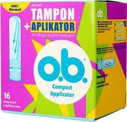 Johnsons O.B.ProComfort Compact Applicator Normal Tampony z aplikatorem 1op.-16szt