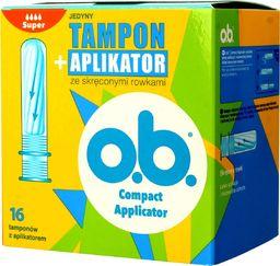 Johnsons O.B.ProComfort Compact Applicator Super Tampony z aplikatorem 1op.-16szt