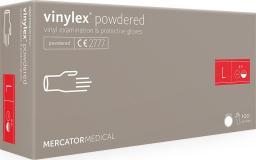 Mercator Medical rękawice ochronne vinylex powdered roz. L 100szt. RD21015004