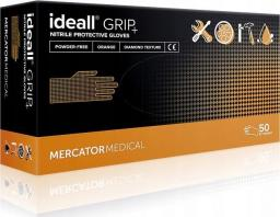Mercator Medical rękawice ochronne ideall grip + orange roz. XL 50szt. (RD30234005)