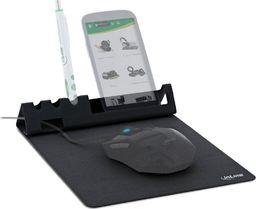 Podkładka InLine Podkładka pod mysz InLine z uchwytem na smartfona i długopisy - czarna