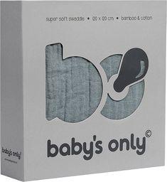 Babys Only Babys Only, PROMOCJA -50%, Otulacz bambusowy, kamienna zieleń, 120x120cm, WYPRZEDAŻ -50%