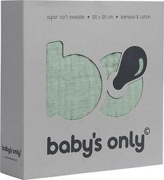 Babys Only Babys Only, PROMOCJA -50%, Otulacz bambusowy, miętowa, 120x120cm, WYPRZEDAŻ