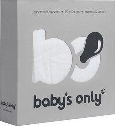 Babys Only Babys Only, Otulacz bambusowy, biały, 120x120cm, WYPRZEDAŻ -50%