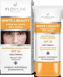 FLOSLEK Krem do twarzy White&Beauty Anti-Aging na przebarwienia 30ml