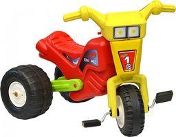 ENERO  Rowerek trójkołowy enero racing żółto czerwony