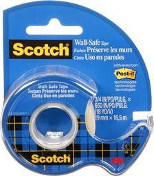 Scotch Taśma klejąca scotch wall-safe, bezpieczna dla ścian 19mmx16,5m