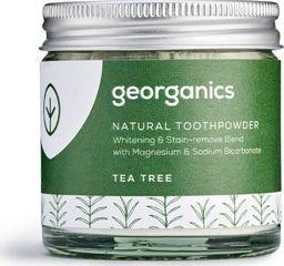 GEORGANICS Georganics, Proszek do czyszczenia zębów, Tea Tree, 60 ml