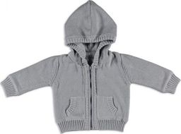 Babys Only Baby's Only, Sweterek rozpinany z kapturem Jasnoszary, rozmiar 56 SUPER PROMOCJA -50%