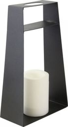 Lampa podłogowa Saska Garden Latarnia dekoracyjna ze świecą Led 35,5cm
