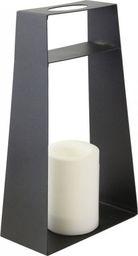Lampa podłogowa Saska Garden Latarnia dekoracyjna ze świecą Led 45,5cm