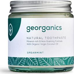 GEORGANICS Georganics, Mineralna pasta do zębów w słoiku Spearmint, 120ml