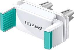Uchwyt Usams USAMS Uchwyt do kratki went. Air Vent Dual Clip biało-zielony/white-green ZJ45ZJ02 (US-ZJ045)