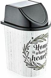 Kosz na śmieci El-hurt Home uchylny 5.7L czarny (SZC000261)