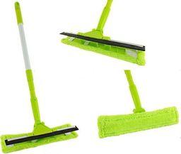 Myjka Myjka Mop Do Szyb Z Mikrofibrą Z Drążkiem Teleskopowym Zielona 3227 CH