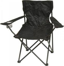 Saska Garden Krzesło turystyczne deluxe składane wędkarskie czarne