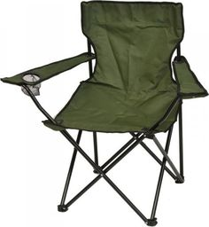 Saska Garden Krzesło turystyczne deluxe składane wędkarskie zielone