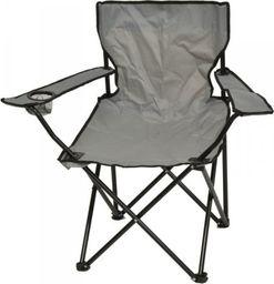 Saska Garden Krzesło turystyczne deluxe składane wędkarskie szare