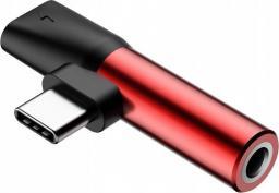 Adapter USB Baseus Baseus Adapter USB-C to Jack - Red uniwersalny
