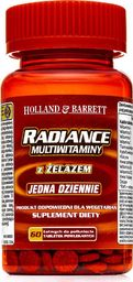 Holland & Barrett  Holland & Barrett Radiance Multiwitaminy i Żelazo 1 na dzień 60 Tabletek