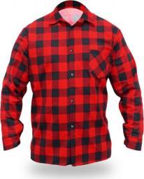 Dedra koszula flanelowa czerwona, rozmiar XXXL, 100% bawełna (BH51F1-XXXL)