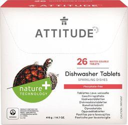 Attitude Tabletki do zmywarki Rozpuszczalne saszetki (26 szt), 520 g